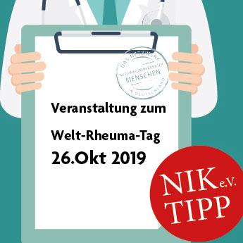 Veranstaltung zum Welt-Rheuma-Tag