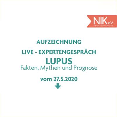 Aufzeichnung Live Experten Gespräch vom 27. Mai