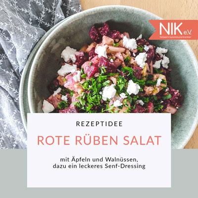 Rezeptidee: Rüben Salat mit Apfel und Nüssen